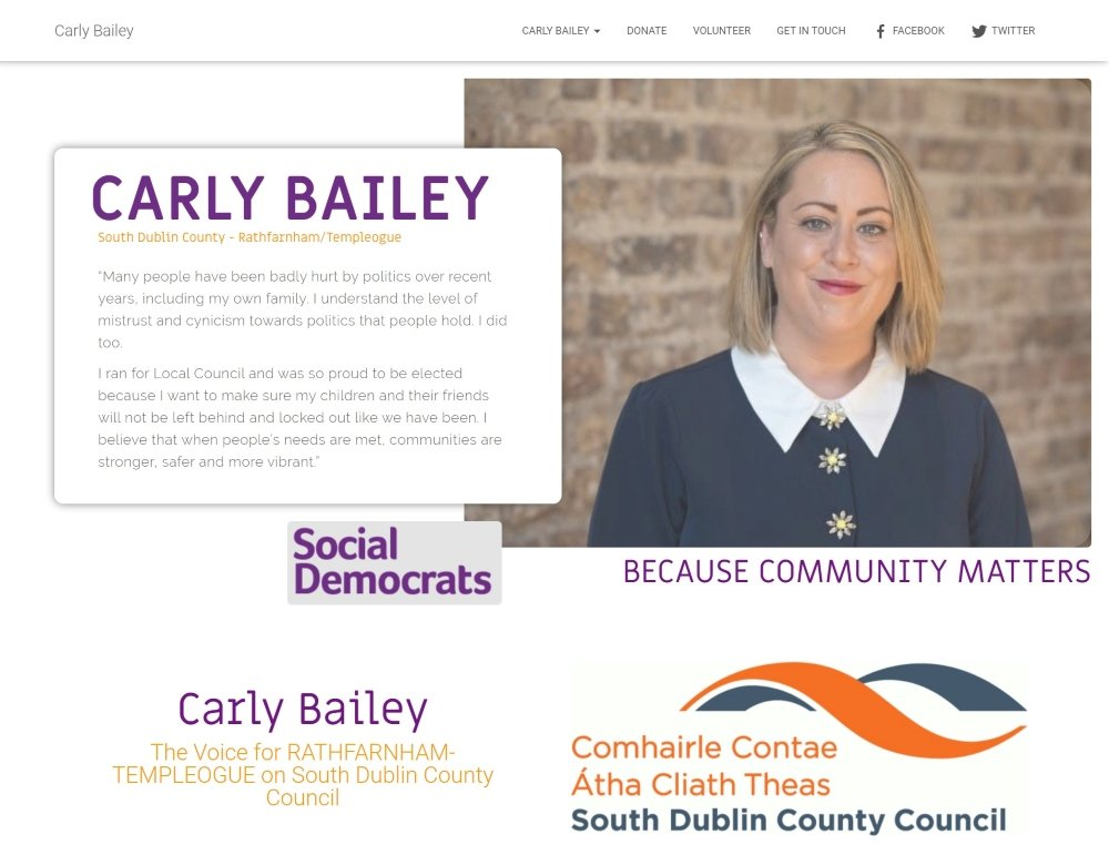 Carly Bailey, Political Candidate Website, Web Design, FutureProof Digital.