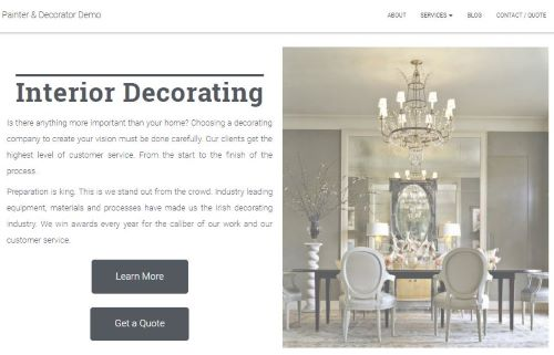 Painter Demo Website Service Page