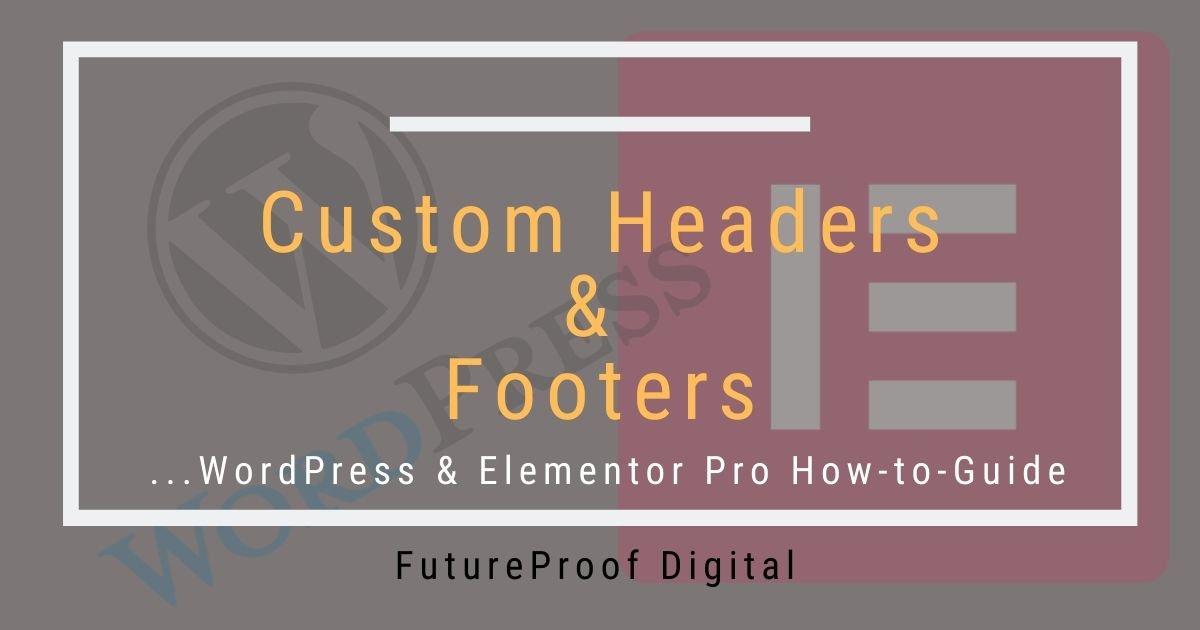 Custom Headers & Footers Post Featured Image