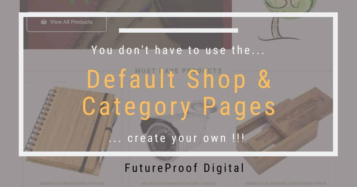 Default Shop & Category Pages Post Featured Image