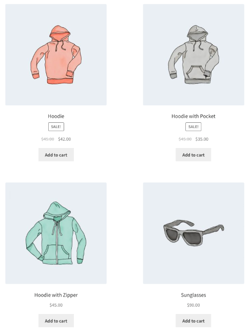 WooCommerce Shortcodes - Display 4 Featured Products in 2 Columns
