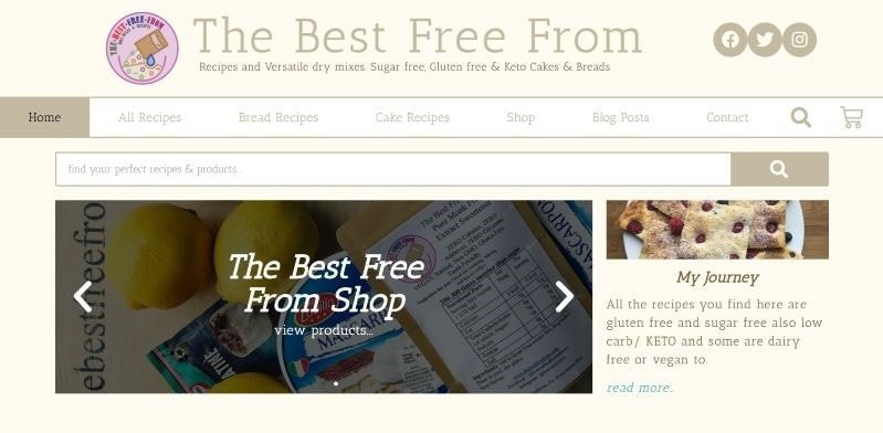 Baking Products E-Commerce Website