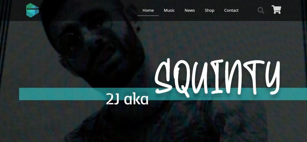 Music Artist Website Homepage Header
