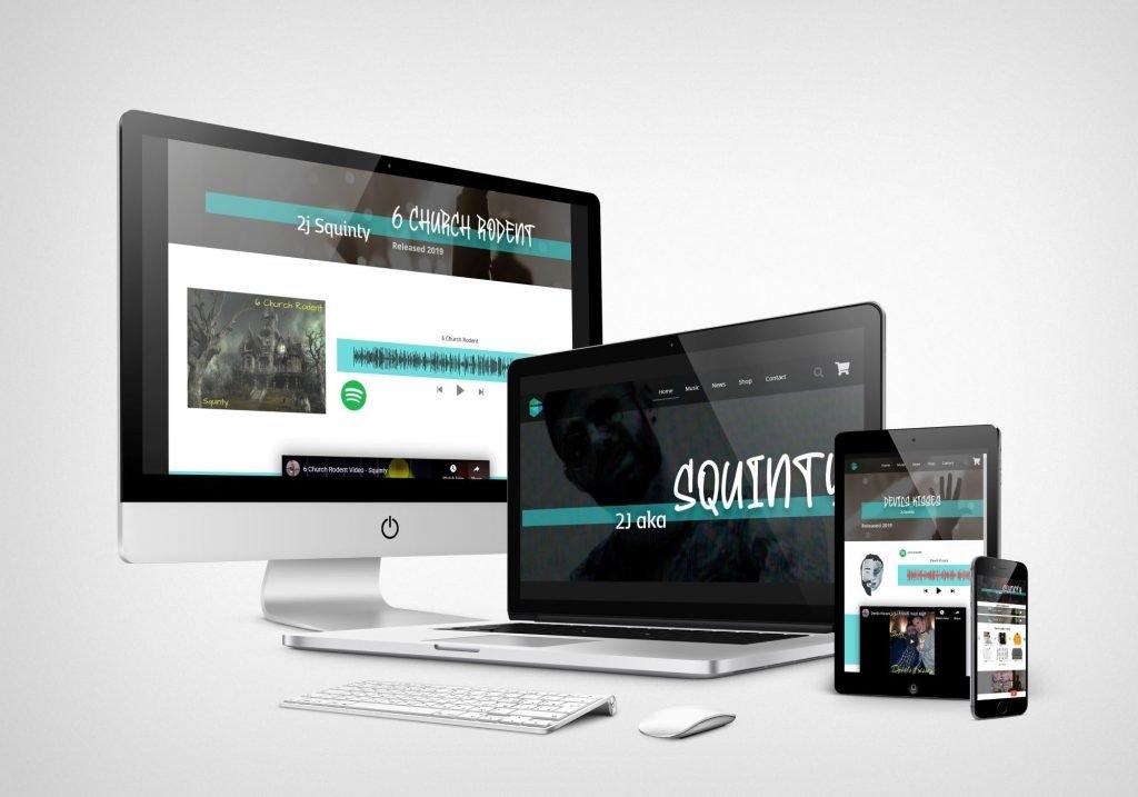 Music Artist Website Screen Mock-up