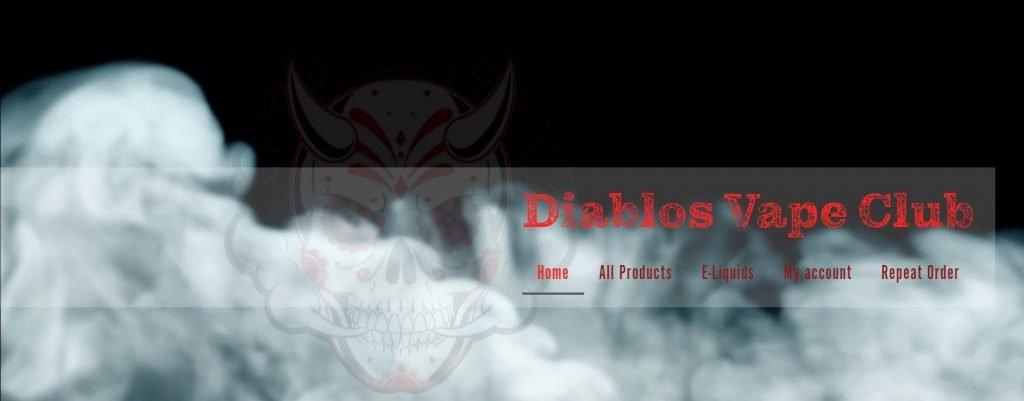 Diablos Vape Club Homepage Header