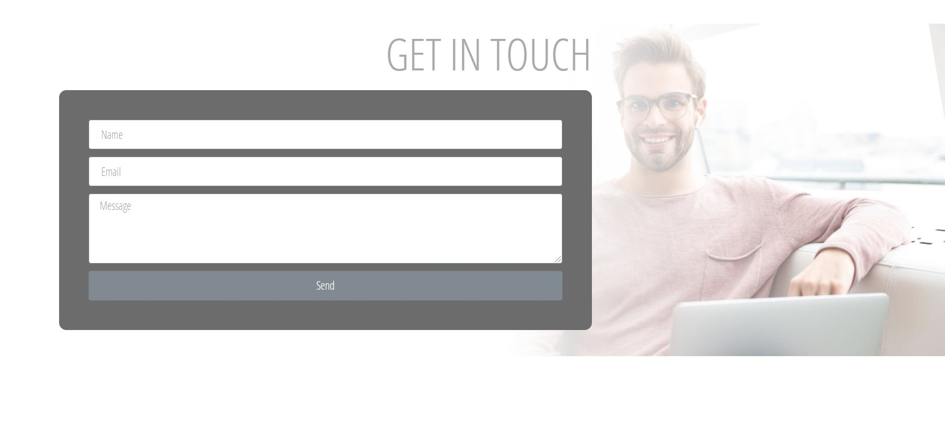 Political Website Design - Homepage Contact Section