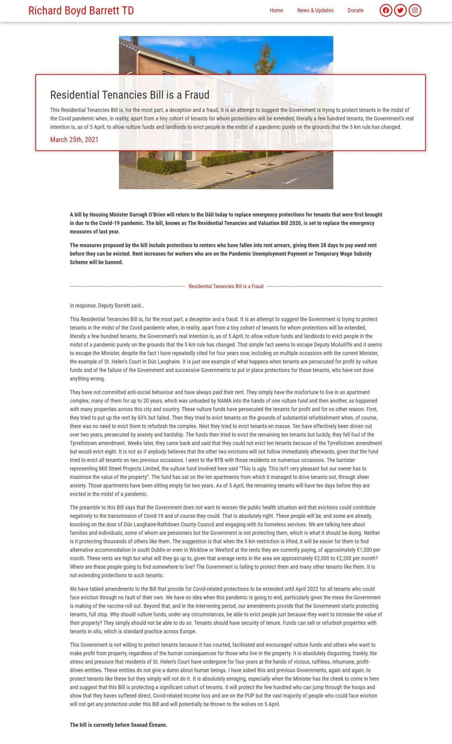 Political Website Content Demo Post