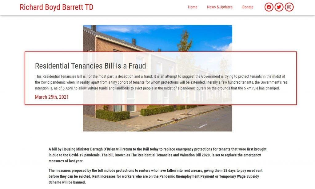 Political Website Content Demo Post Header Section