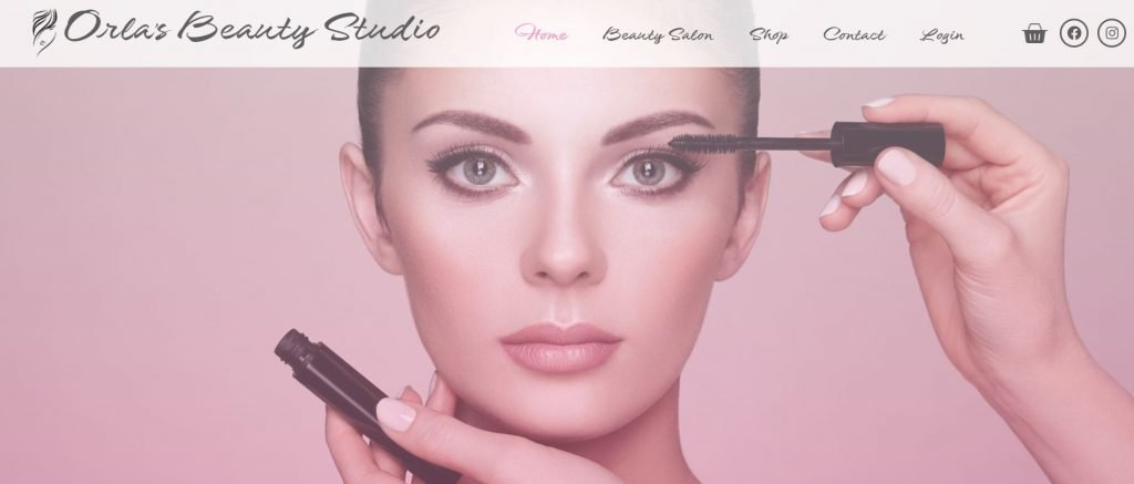 Skincare Products Website Homepage Header